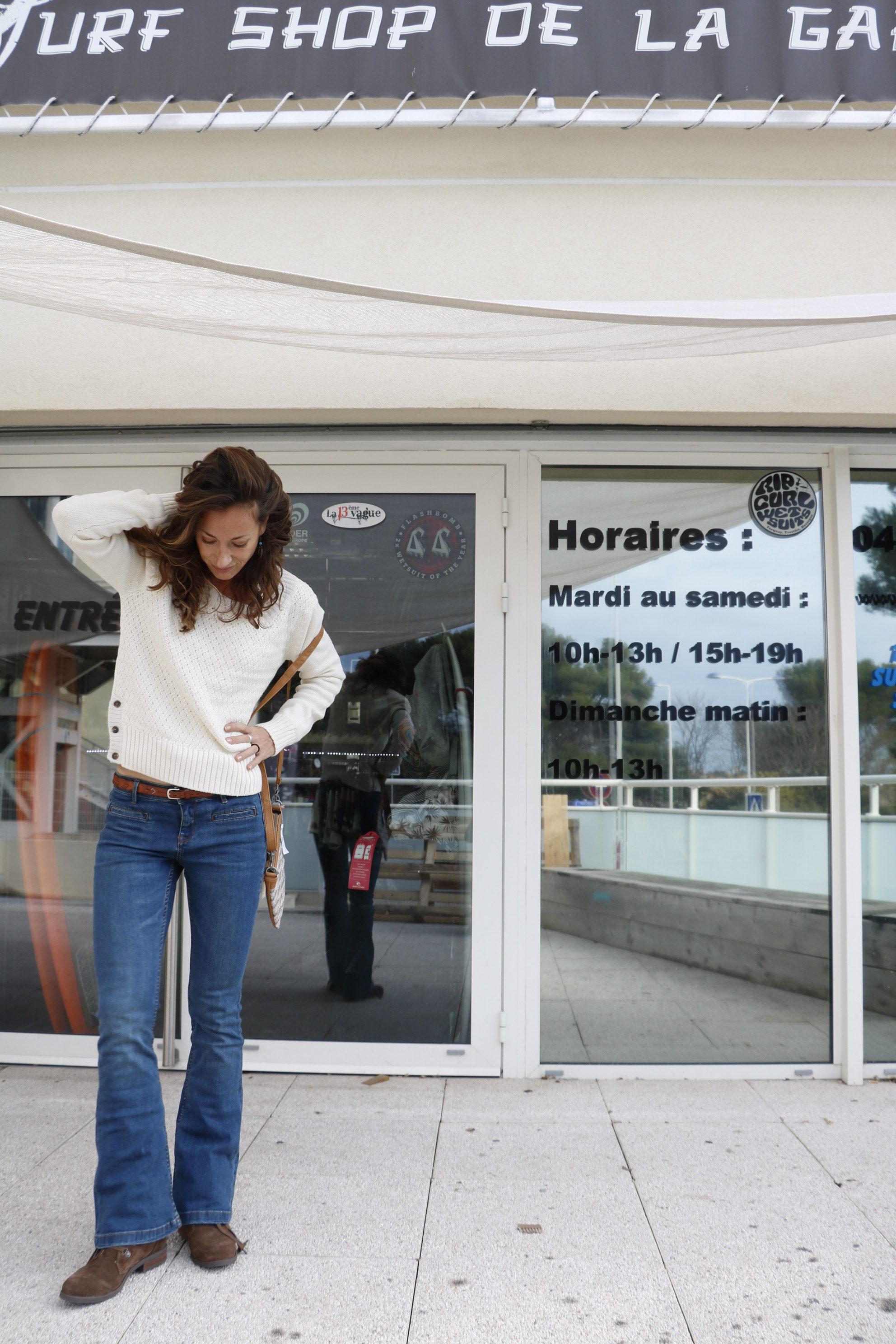 jean flare roxy surf shop de la gare