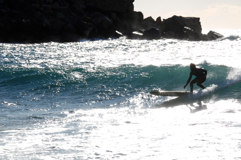 surf session longboard côte bleue vendredi 13 janvier