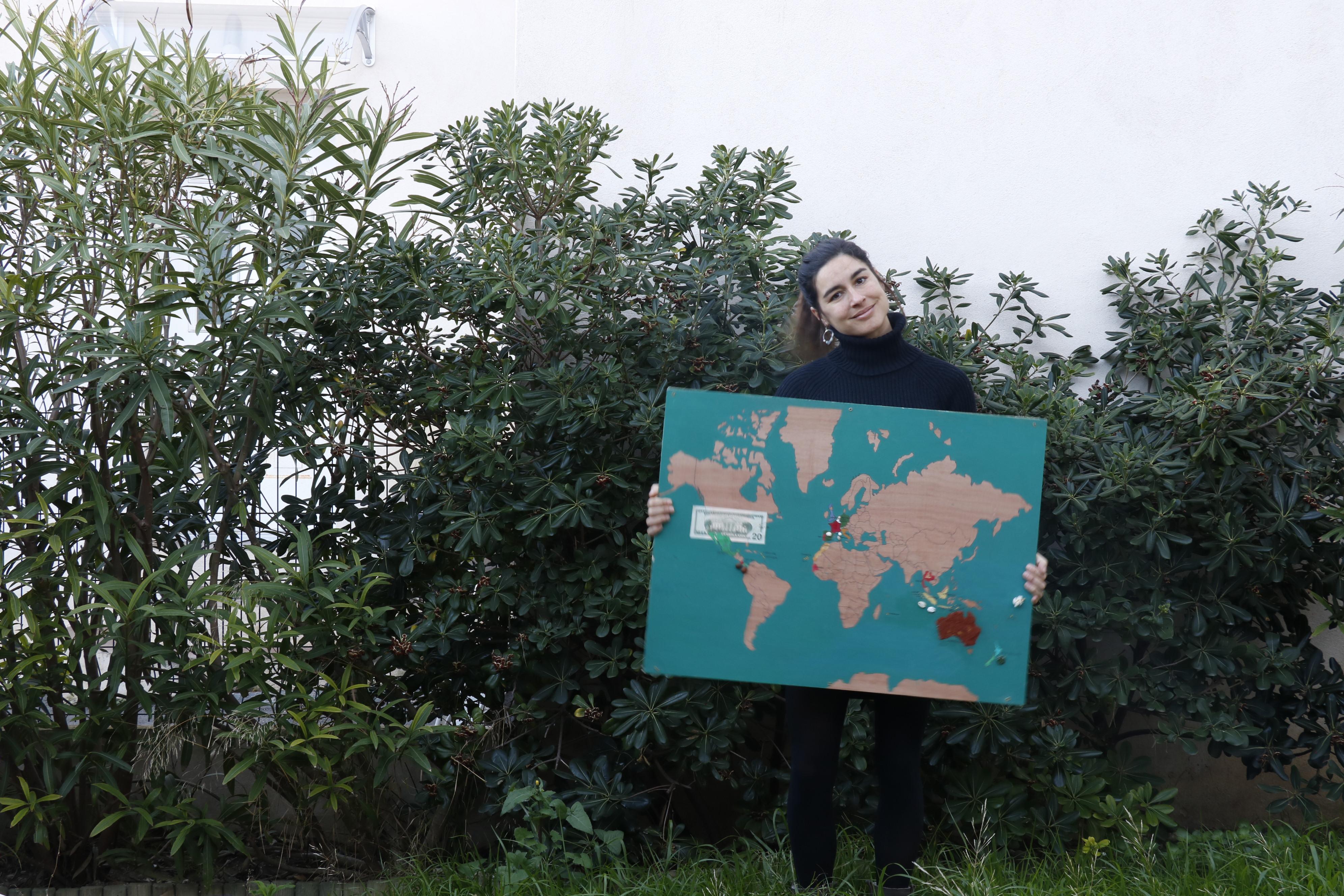 création mappe monde voyage personnalisée