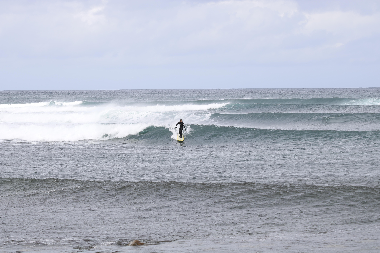 trip surf en Ecosse longboard bus stop Lewis