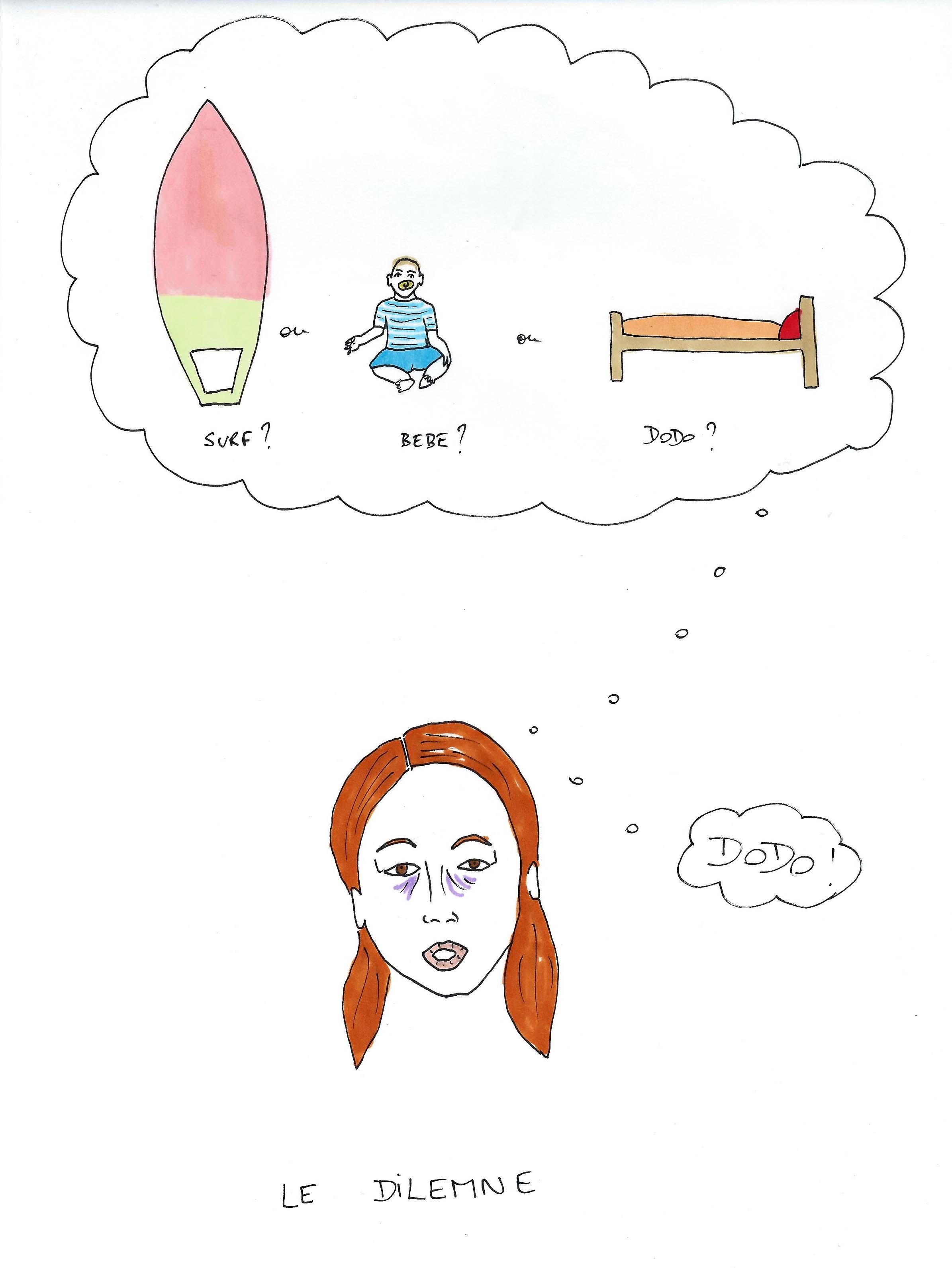 Le dilemme d'une maman surfeuse