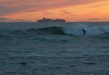 coucher de soleil session de surf côte bleue