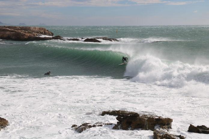 session surf du 4 fevrier 2019 côte bleue méditerranée